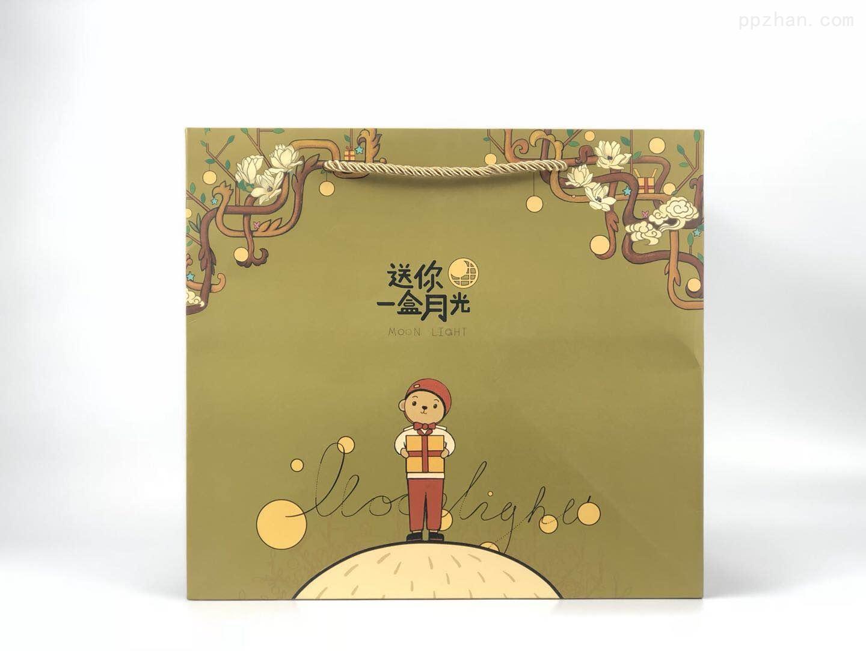 送你一盒月光中秋月饼礼袋 礼物手提纸袋